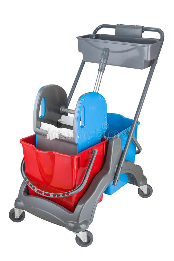 Small cleaning Cart royalty free stock photo