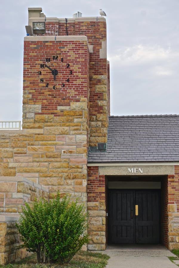 Small clock tower at Jones Beach royalty free stock photo