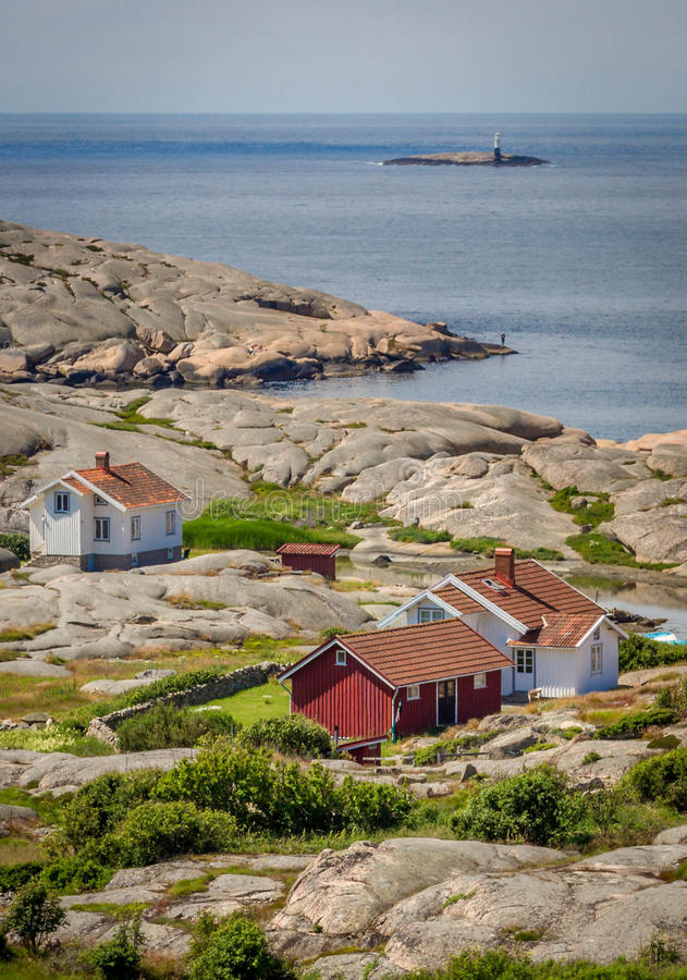 Free Small Collection Of Fishermen S Houses In Bohuslän, Sweden Stock Images - 58502284