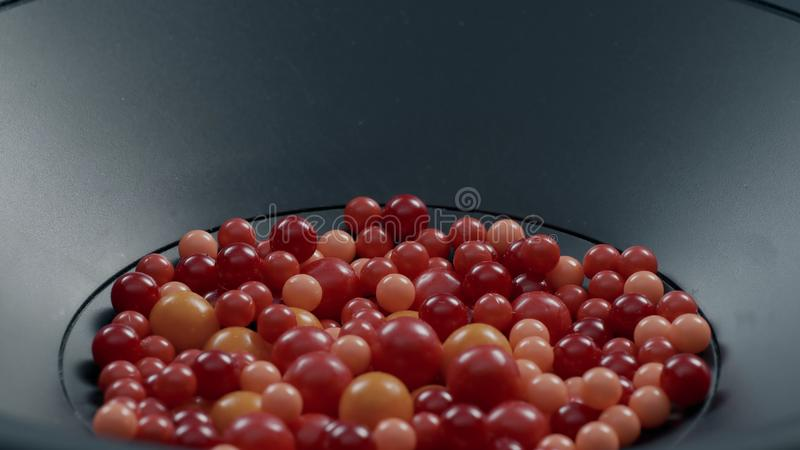 Small colored balls inside the stereo speakers royalty free stock images