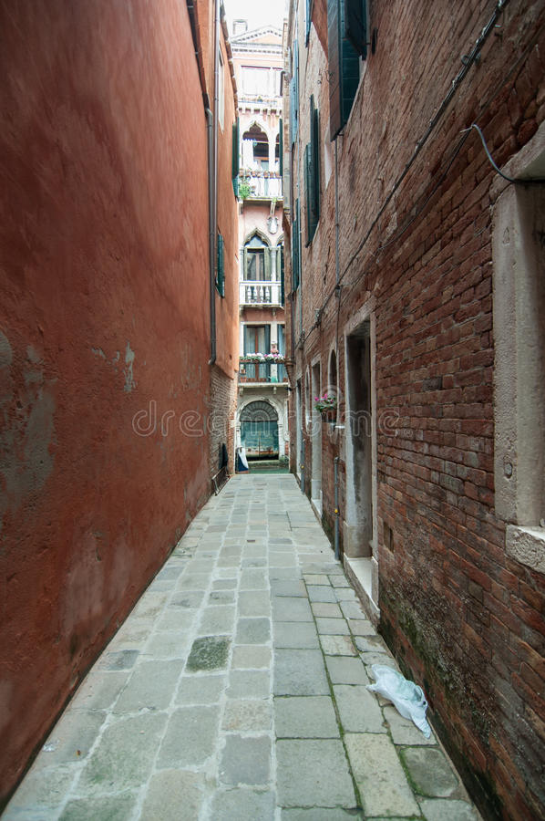 Download Small Colourful Venetian Street In A Popular Neighbourhood Stock Photo - Image: 33434294
