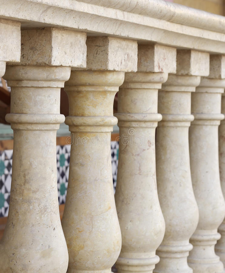 Download Small Columns Design Along Verandah At Shallow DOF Stock Image - Image: 14034981