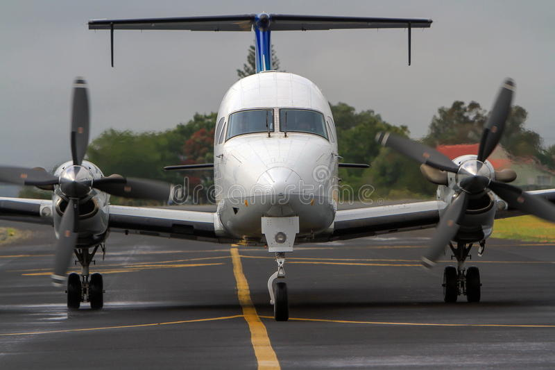 Download Small Commercial Passenger Aircraft On Runway. Stock Photo - Image: 28408552