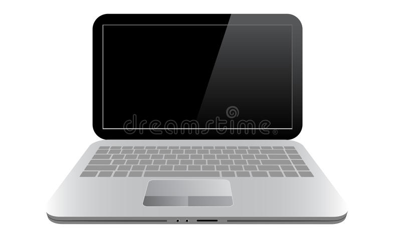 Small computer - laptop or notebook. Isolated on white background royalty free illustration