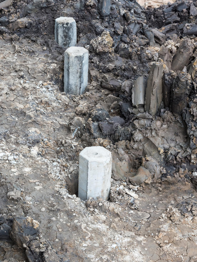 Small concrete pillar. royalty free stock images