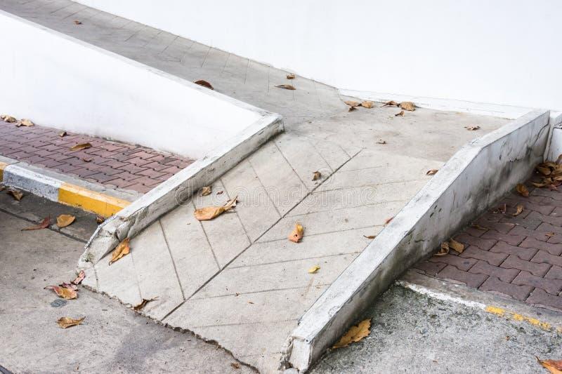 Small concrete ramp stock photography