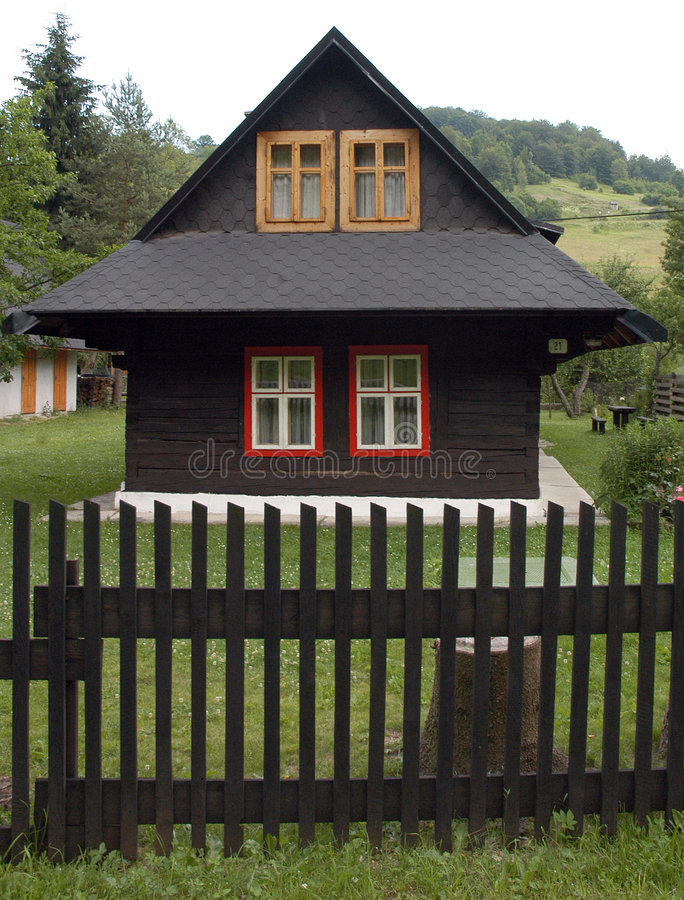 Small country chalet stock images
