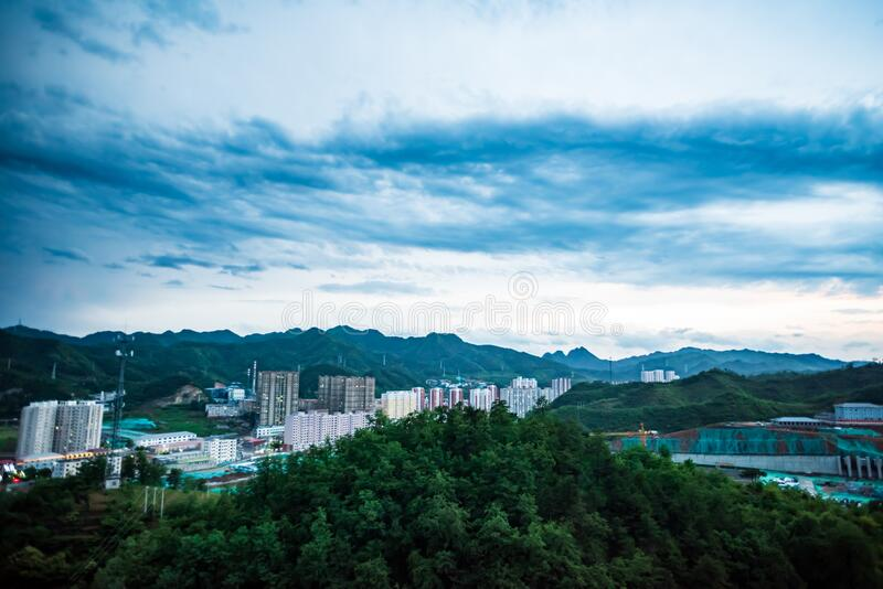Xinglong is a small county town in northern China royalty free stock photos
