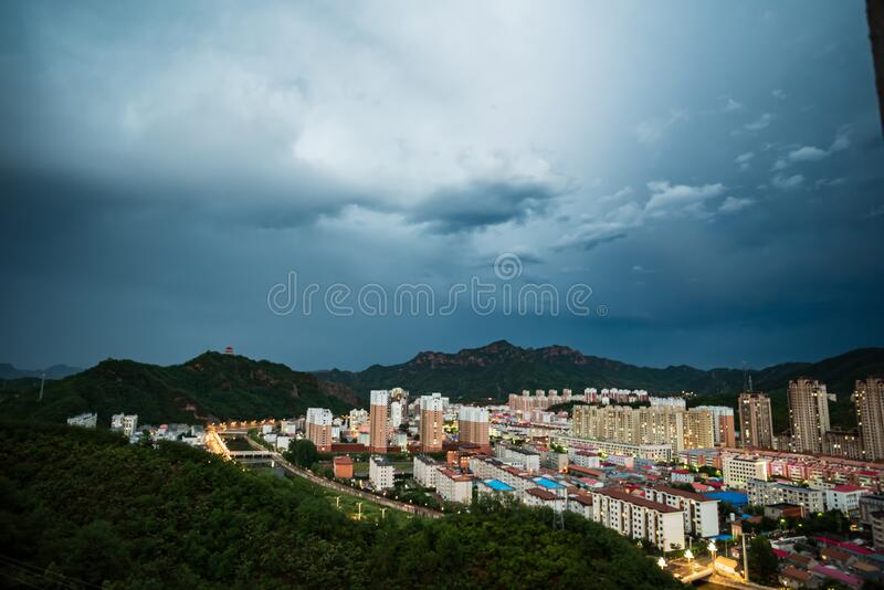 Xinglong is a small county town in northern China royalty free stock photography