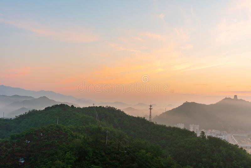 Xinglong is a small county town in northern China royalty free stock photo