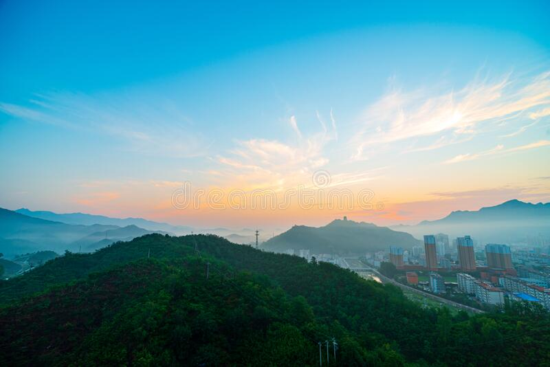 Xinglong is a small county town in northern China royalty free stock image