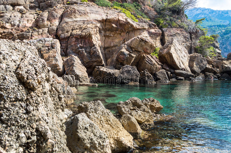 Small cove on Sa Foradada. Mallorca, Balearic Island stock photos