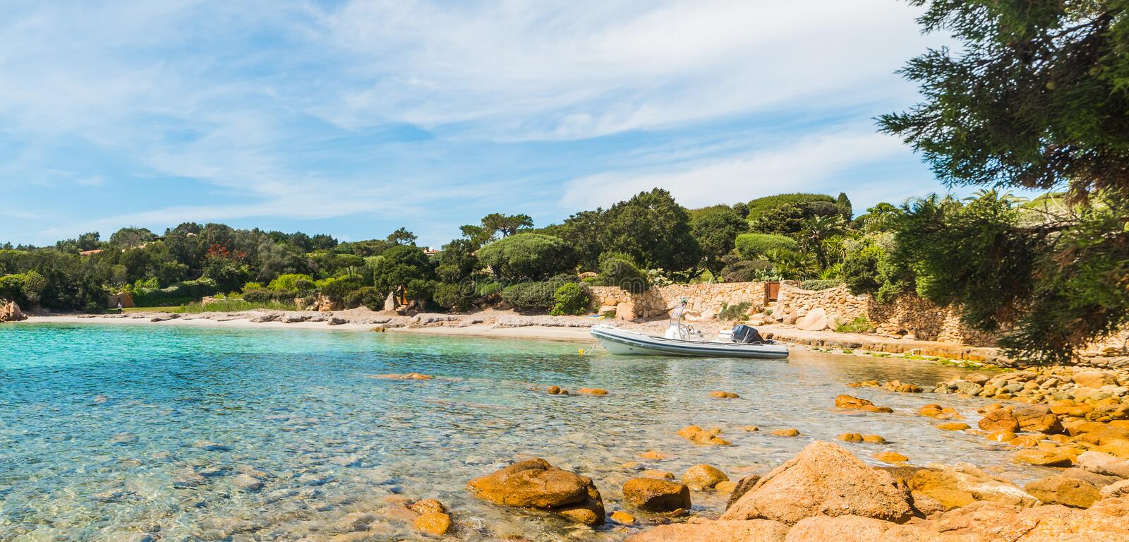 Small cove in Sardinia. Italy stock photo