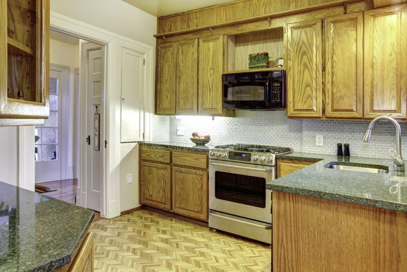 Small cozy kitchen stock photos