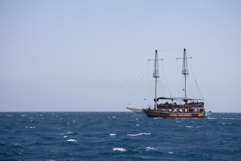 Beautiful pirate cruise ship in Turkey royalty free stock photos