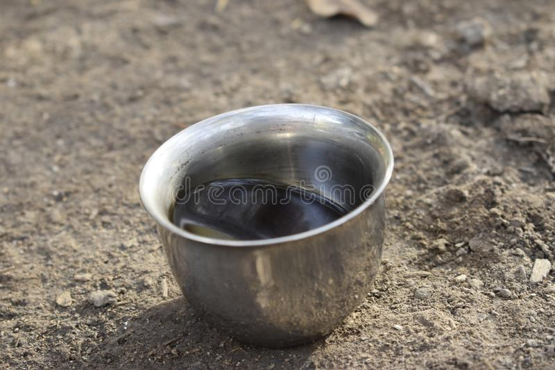 Small cup of black coffee royalty free stock image