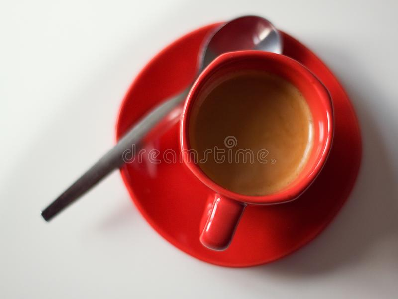 Small cup black coffie stock images