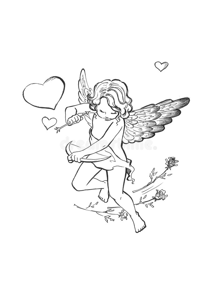 Small cupid stock photo