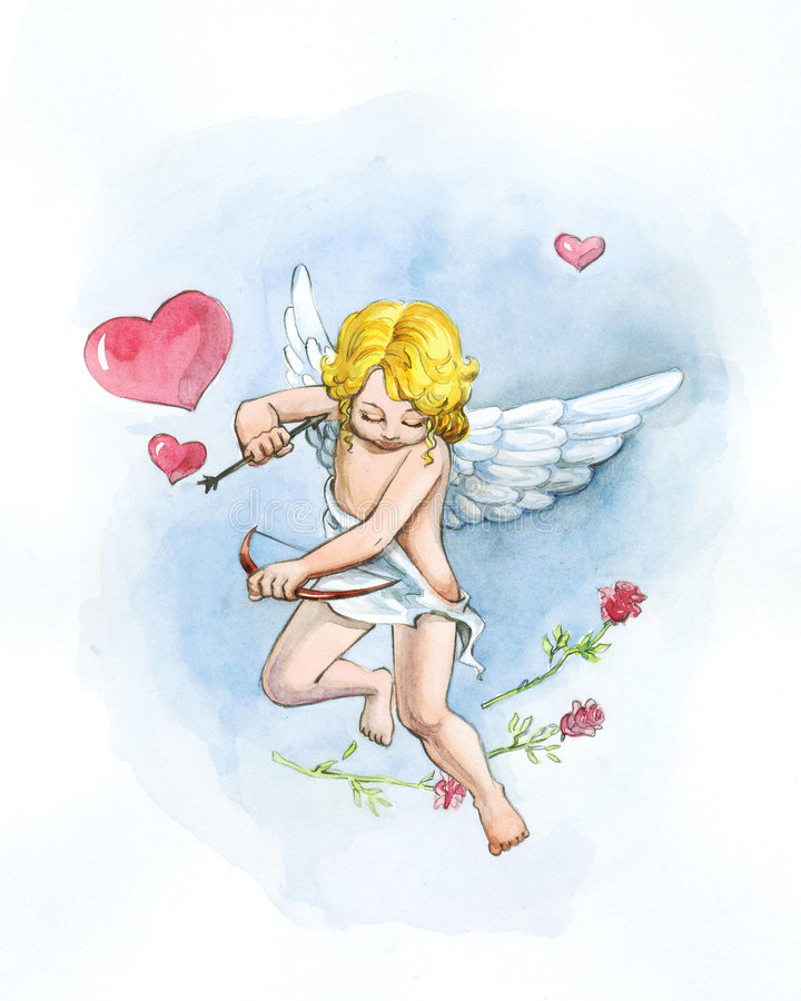 Small cupid royalty free stock photography