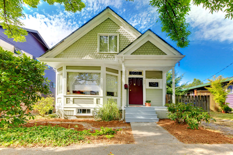 Small cute craftsman American house royalty free stock images