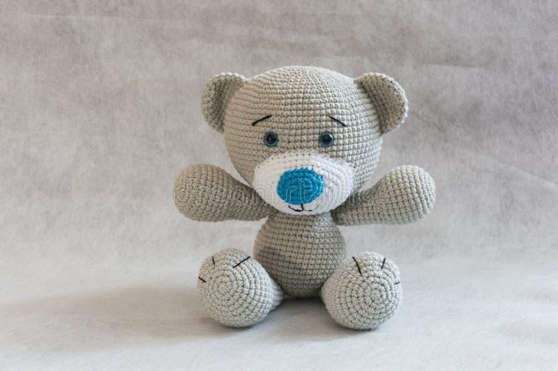 Bear cub brown bear funny bear bear for a child handmade bear amigurumi bear Little bear cute bear knitted bear