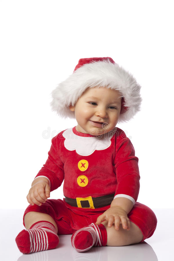 Small cute santa royalty free stock photo