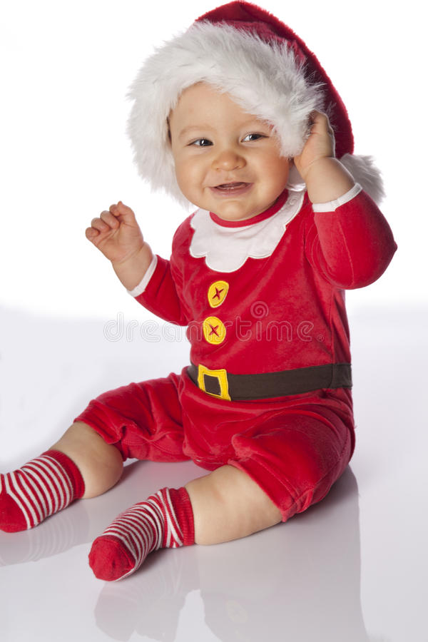 Small cute smiling Santa stock images
