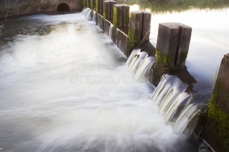 Small dam. In a small village royalty free stock photography