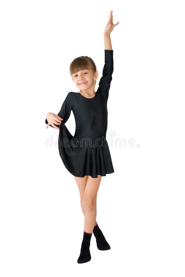 The small dancer stock photo