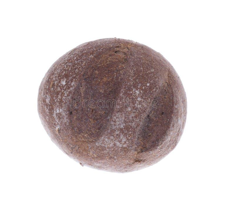 Small dark rye bun stock images