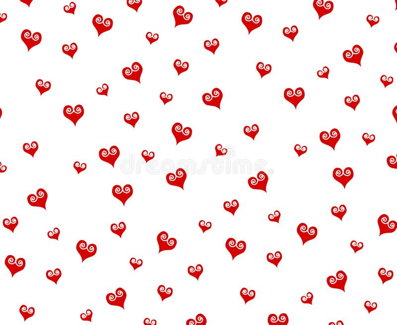 Small Decorative Red Hearts Pattern Background stock photography