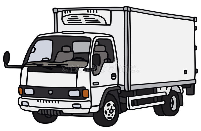 Small delivery truck stock illustration