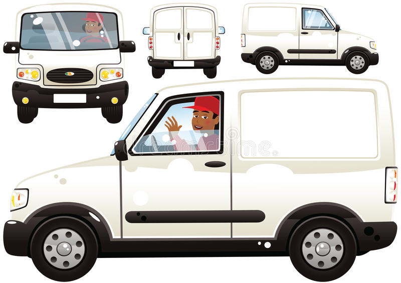Small Delivery Van And Driver Stock Image - Image of destination ...