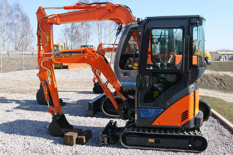 Small digger stock photos