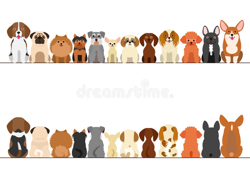Small dogs border set stock illustration