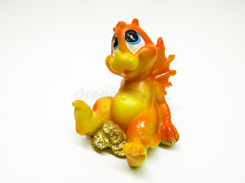 Small dragon. Small statuette of small dragon royalty free stock images