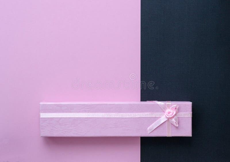 Small elegant pink gift box stock image