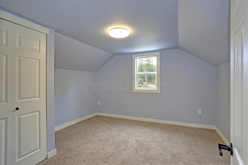 Empty Room With Carpet Floor And Grey Walls Stock Photo Image Of