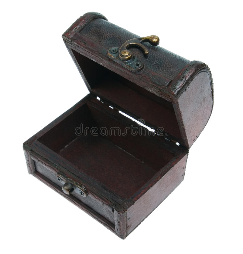 Small Empty Opened Chest Royalty Free Stock Image