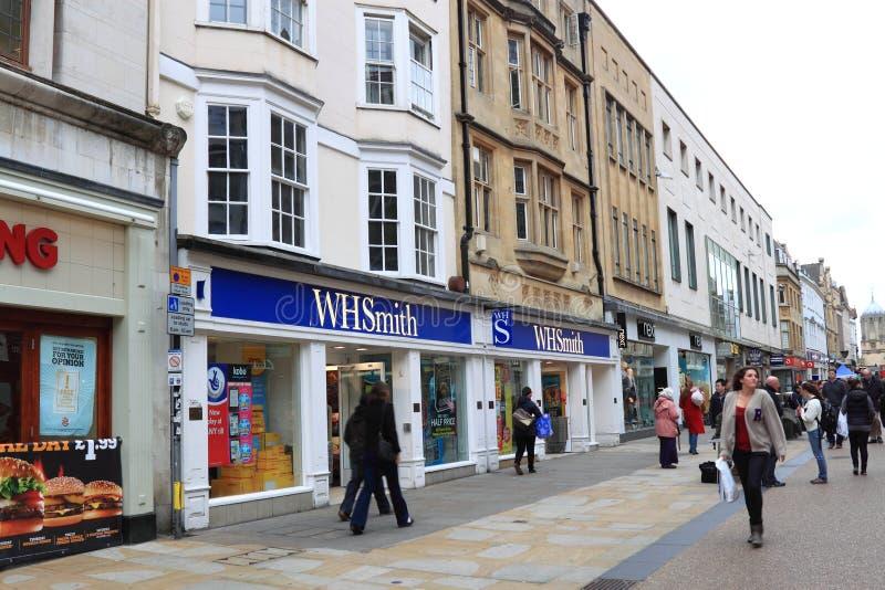 Small England Town Street. Oxford, Small England Town Street stock photo