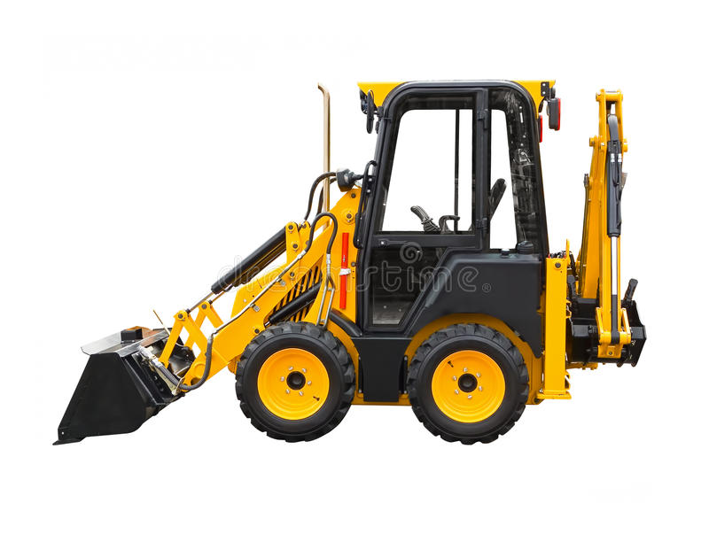 Small excavator royalty free stock photography