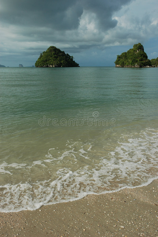 Small Exotic Islands off Krabi Coast, Thailand royalty free stock image
