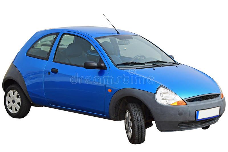 A Small Family Hatchback Car. Isolated On A White Background. Also The PNG File Is Enclosed With A Clear Background stock images