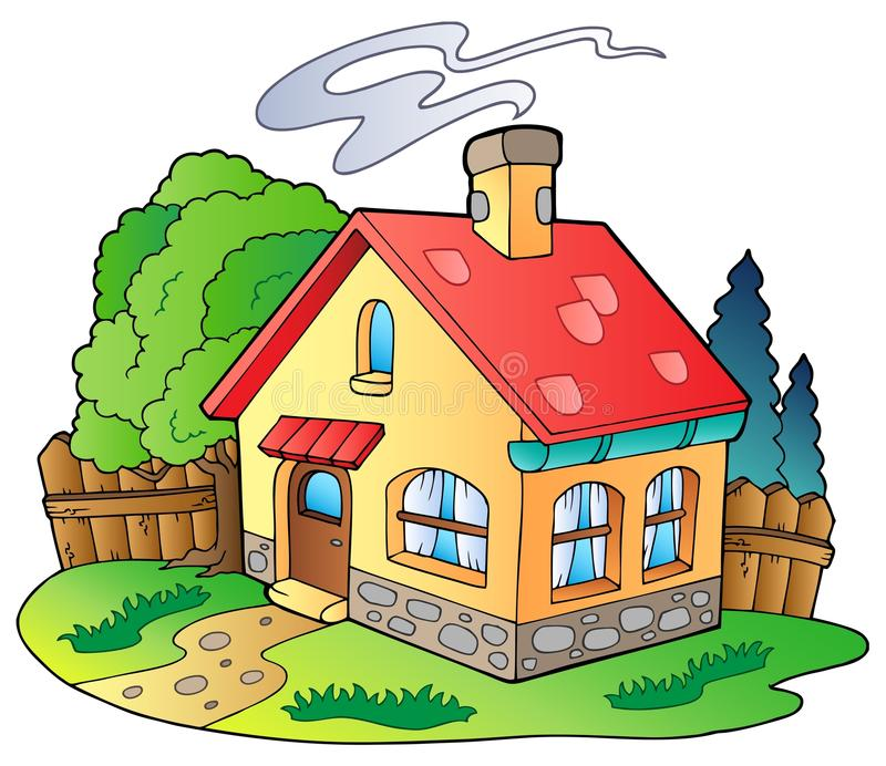 Small family house vector illustration