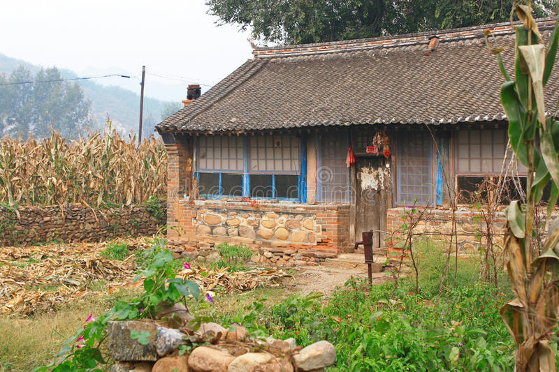 Small Farm House In China Stock Image. Image Of Building