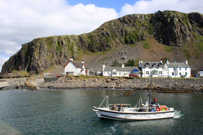 Small ferry Ellenabeich, Seil Island to Easdale royalty free stock photos