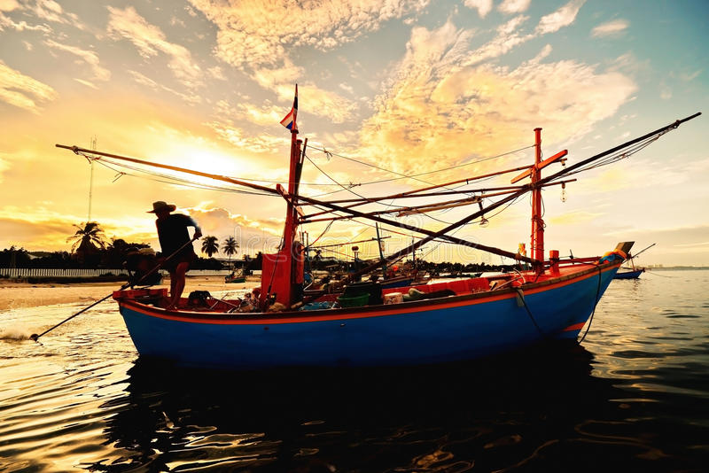 Download Small Fisherman Boats In The Sea Stock Image - Image: 32790691
