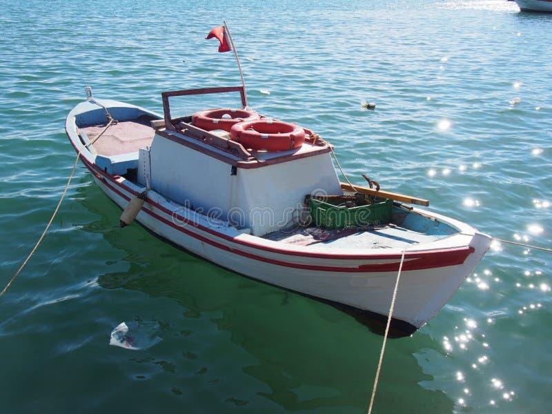 Small fishing boat stock image