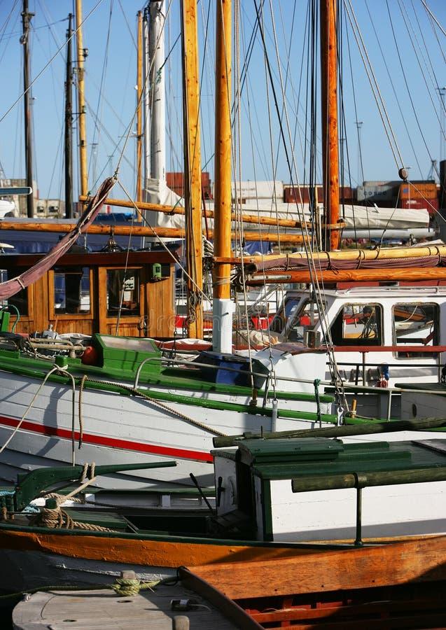 Small fishing boats royalty free stock photos