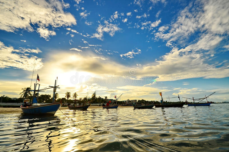 Download Small Fishing Boats In The Sea Stock Photo - Image: 32822290